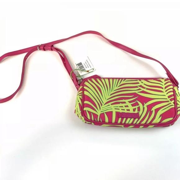 Vera Bradley Handbags - Vera Bradley Palm Fronds Small Crossbody Bag Pink